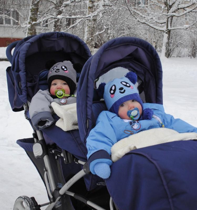 Зимний день маленьких Рошек - проказников