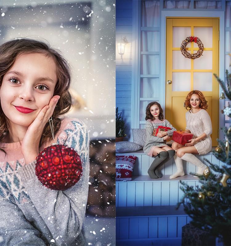 Рождественская фотосессия для Светы и Леры