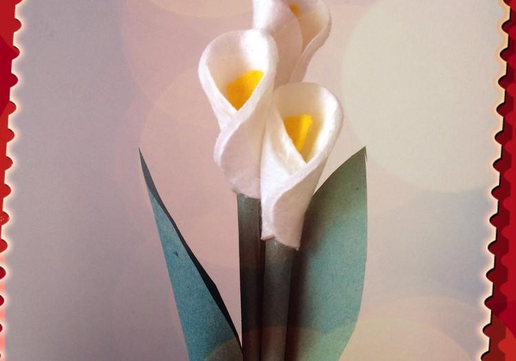 Подарок ко Дню матери своими руками: Каллы