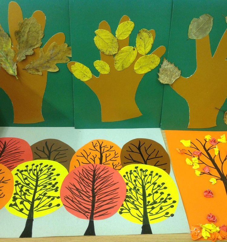 ДЗ-4: Осенний лес. Аппликация