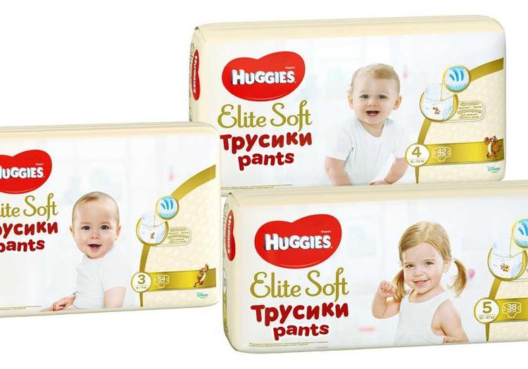 Huggies® Elite Soft Pants - подгузники-трусики из дышащих материалов!