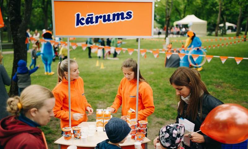 На фестиваль Маминого Клуба Kārums привёз и угощения, и развлечения!