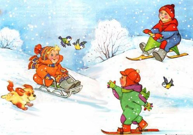Ребенок радуется зиме картинки для детей