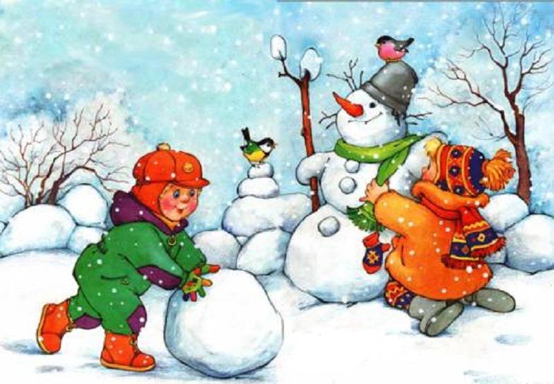 Картинки про зиму и снег для детей