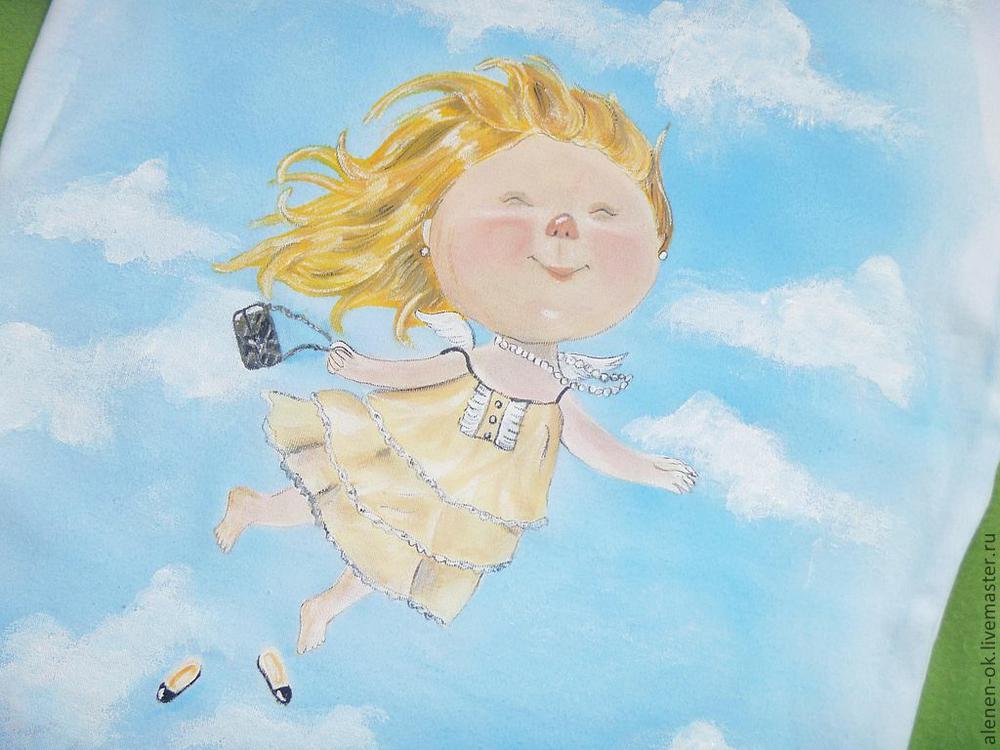 Летящая девочка рисунки