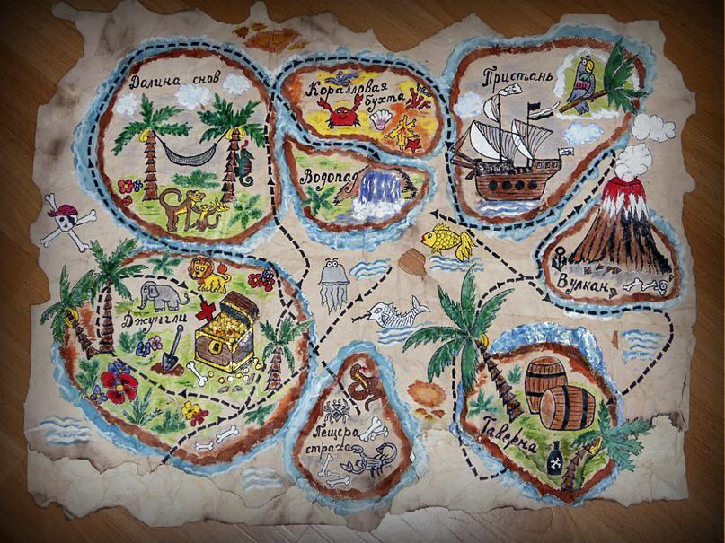Карта сокровищ для детей своими руками фото 819