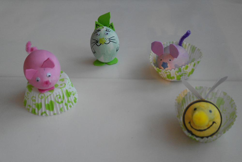 Поделка из яйца для детей 79